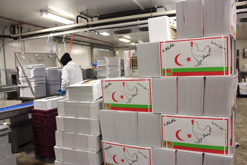 Bevatten deze nu nog lege dozen straks CO2-vergaste kip? Aan de halalconsument de keus!